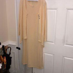 Knit dress and jacket